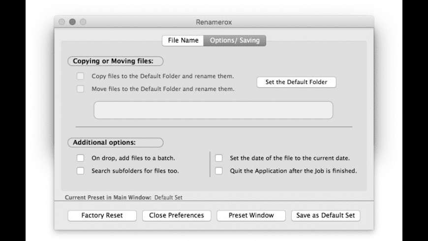 Renamerox for Mac - review, screenshots