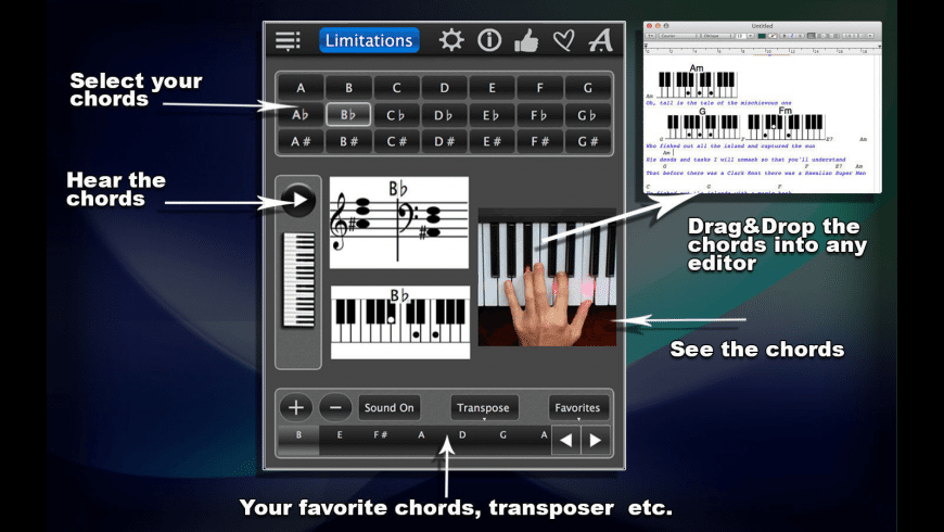 Piano Chords Lite for Mac - review, screenshots