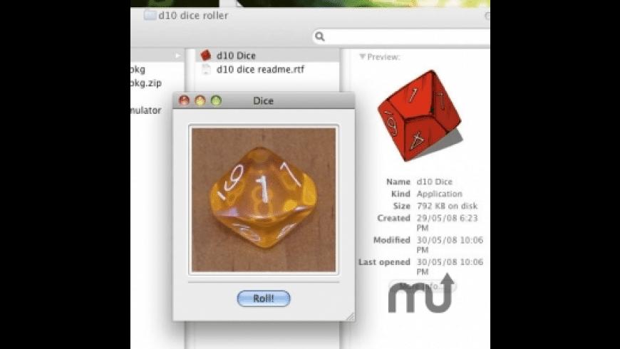 d10 Dice Roller for Mac - review, screenshots