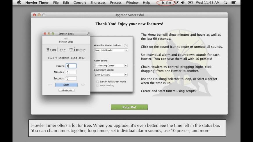 Howler Timer for Mac - review, screenshots