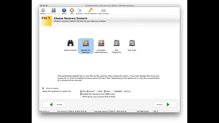 FILERECOVERY Enterprise for Mac - review, screenshots