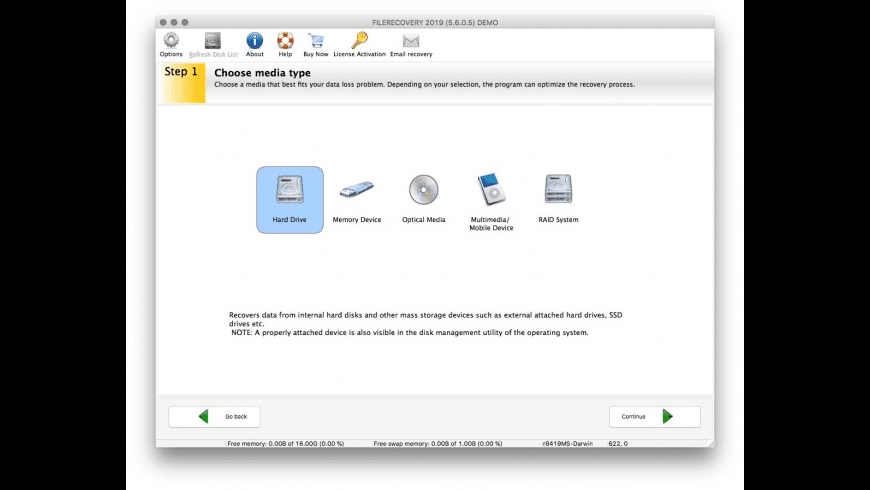 FILERECOVERY Standard for Mac - review, screenshots