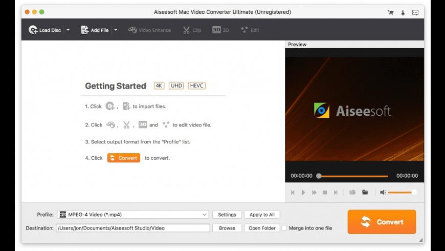 Aiseesoft Video Converter Ultimate for Mac - review, screenshots