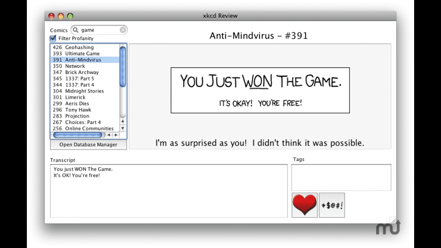 xkcd Review for Mac - review, screenshots