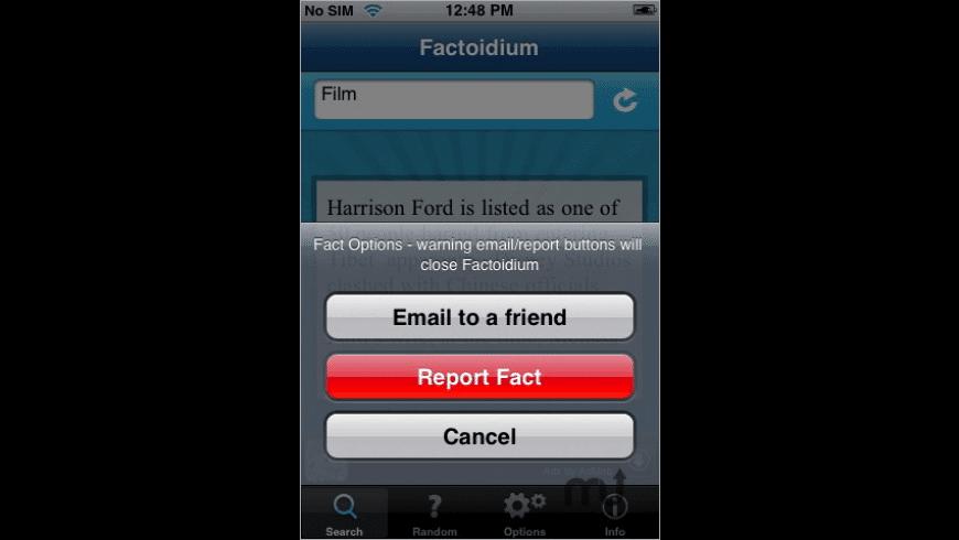 Factoidium for Mac - review, screenshots