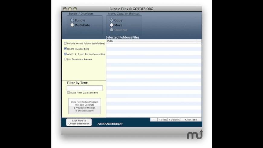 Bundle Files for Mac - review, screenshots