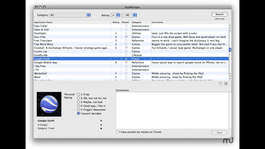 AppManager for Mac - review, screenshots
