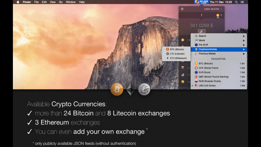 Exchange Rates for Mac - review, screenshots