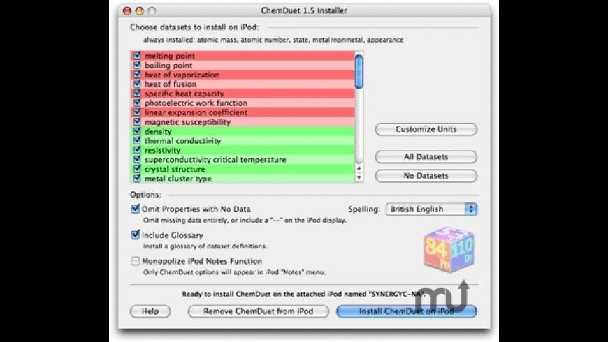 ChemDuet for Mac - review, screenshots