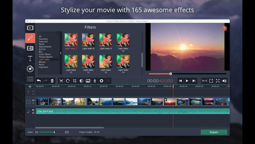 Movavi Video Editor for Mac - review, screenshots