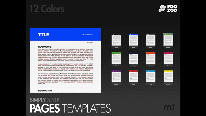 Simply Stylish Pages Templates for Mac - review, screenshots