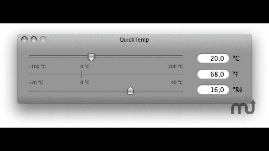 QuickTemp Desktop for Mac - review, screenshots