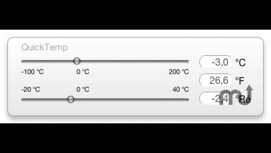 QuickTemp Widget for Mac - review, screenshots