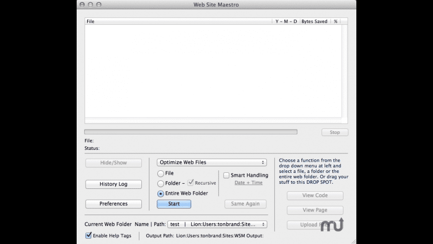 Web Site Maestro for Mac - review, screenshots