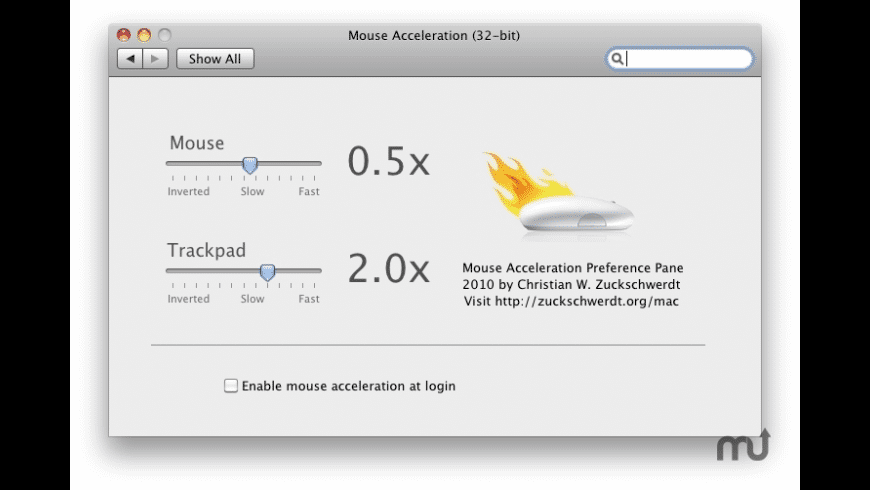 Mouse Acceleration for Mac - review, screenshots