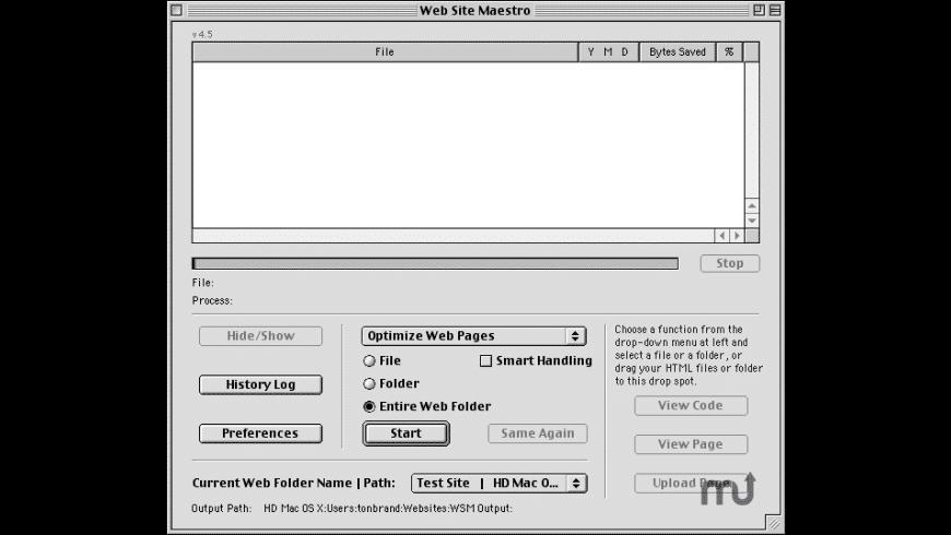Web Site Maestro for Mac - review, screenshots