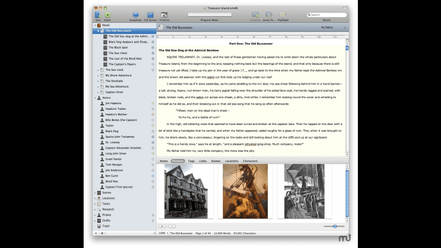 StoryMill for Mac - review, screenshots