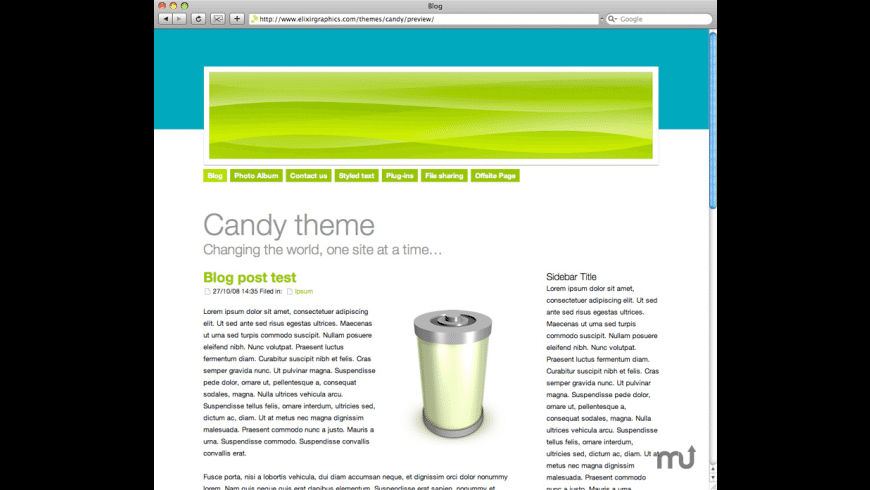 Candy Theme for Mac - review, screenshots