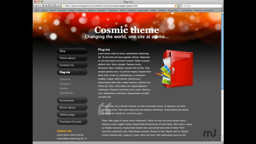 Cosmic Theme for Mac - review, screenshots