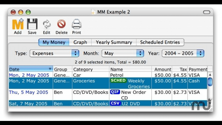 My Money Minder for Mac - review, screenshots