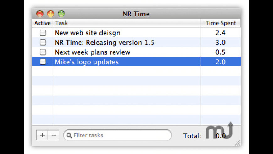 NR Time for Mac - review, screenshots