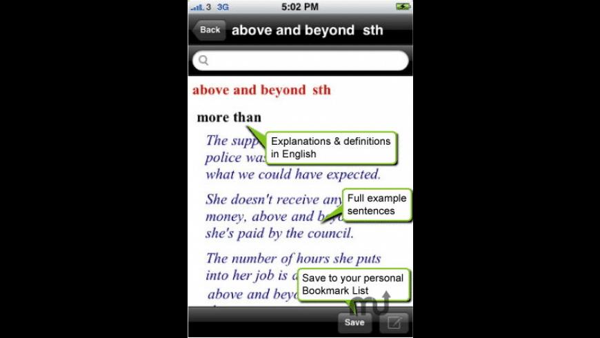 Cambridge Idioms Dictionary for Mac - review, screenshots
