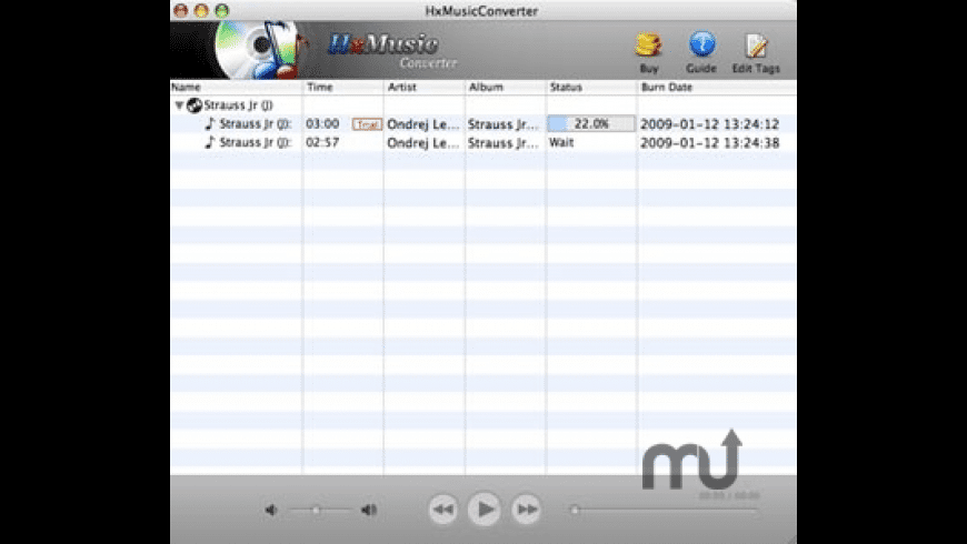 HxMusicConverter for Mac - review, screenshots