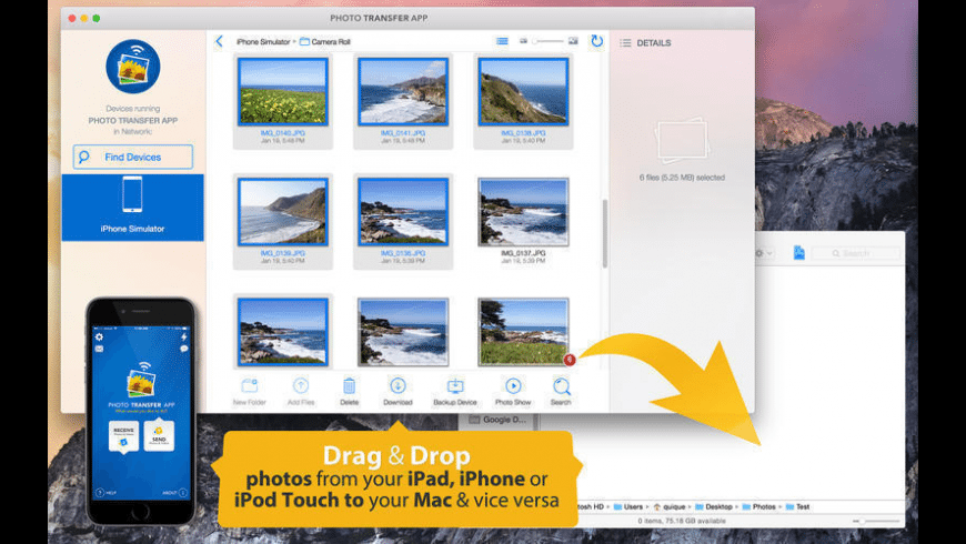 Photo Transfer App for Mac - review, screenshots