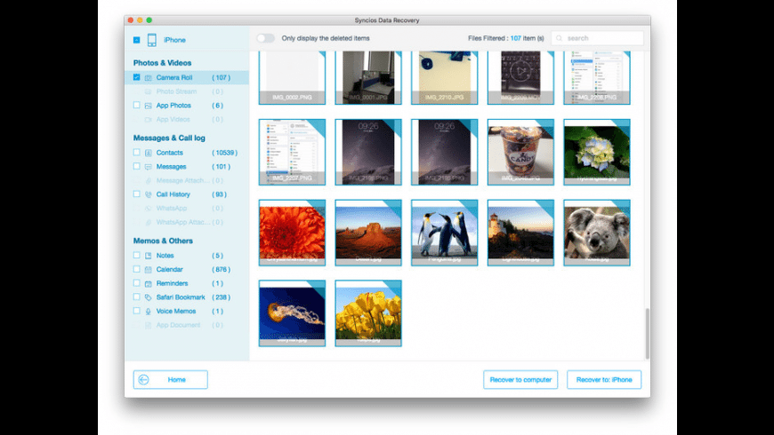Syncios Data Recovery for Mac - review, screenshots