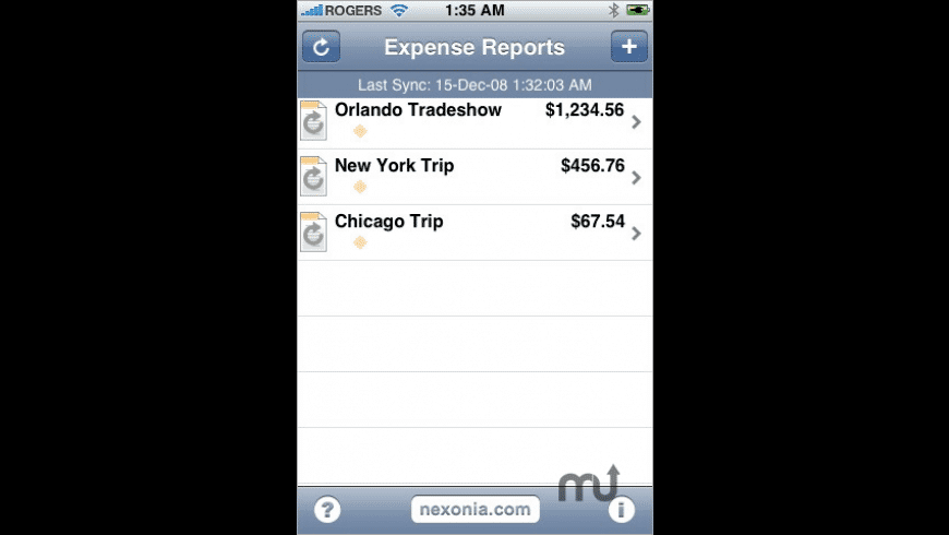 Expense Reports for Mac - review, screenshots