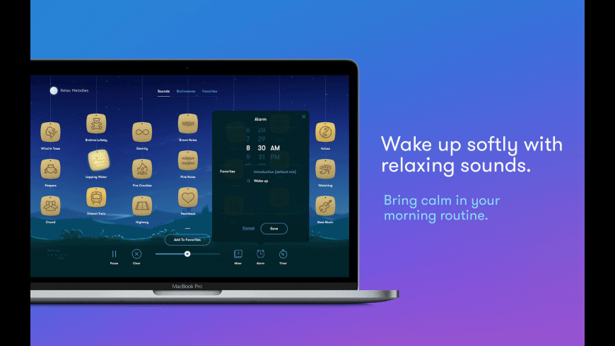 Relax Melodies for Mac - review, screenshots