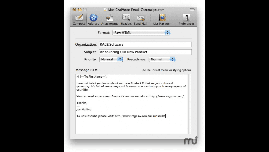 MailShoot for Mac - review, screenshots