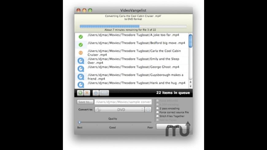 VideoVangelist for Mac - review, screenshots