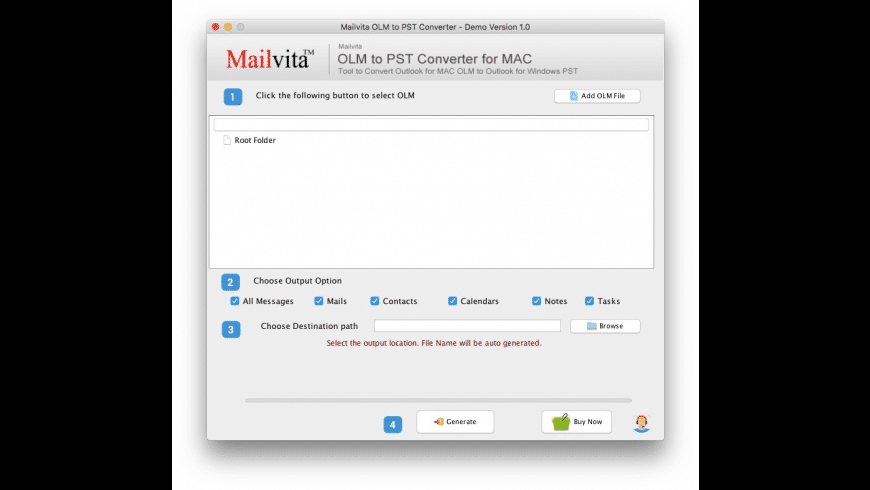 OLM to PST for Mac - review, screenshots