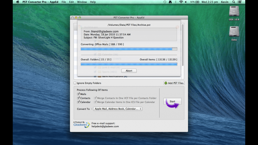 PST Converter Pro for Mac - review, screenshots
