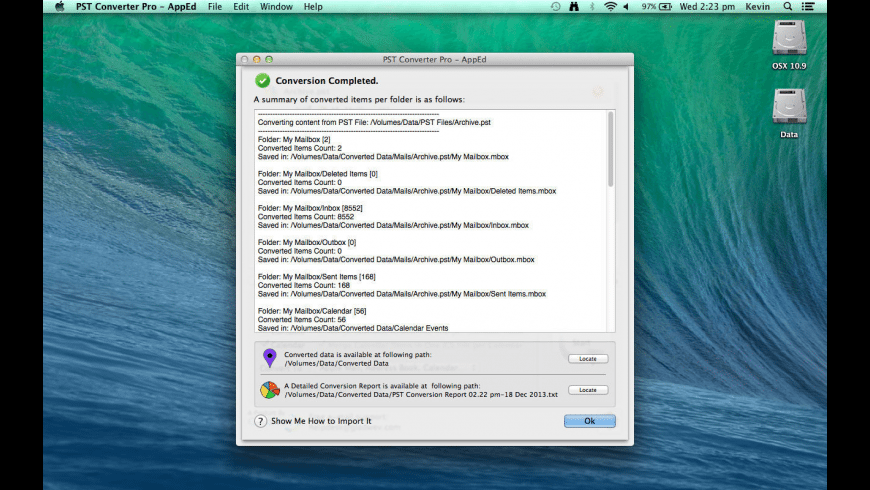 PST Converter Pro for Mac - review, screenshots