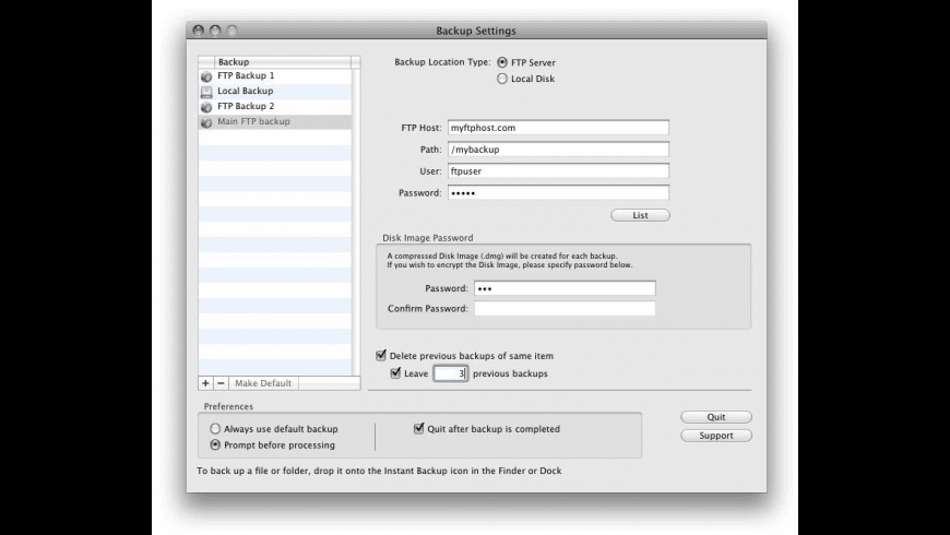 Instant Backup for Mac - review, screenshots