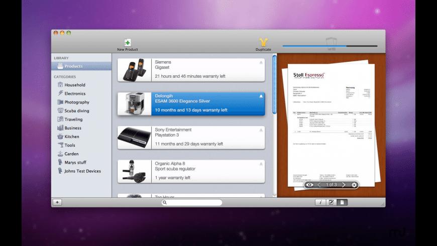 Warranty Hero 2 for Mac - review, screenshots
