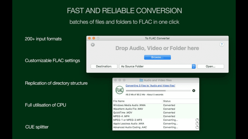 To FLAC Converter for Mac - review, screenshots