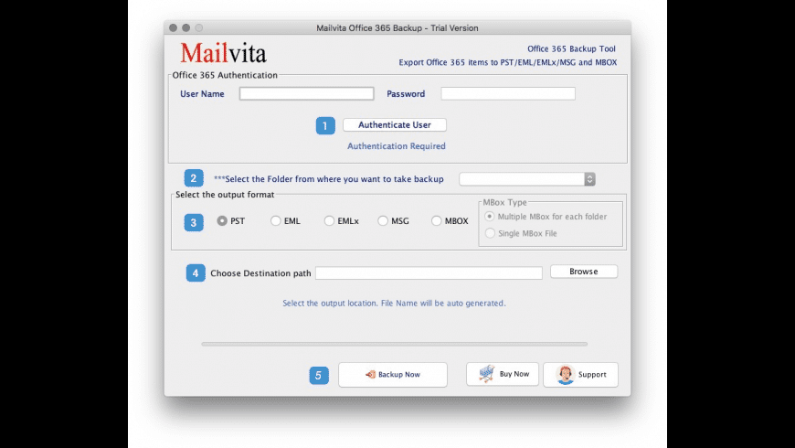 Mailvita Office 365 Backup for Mac - review, screenshots