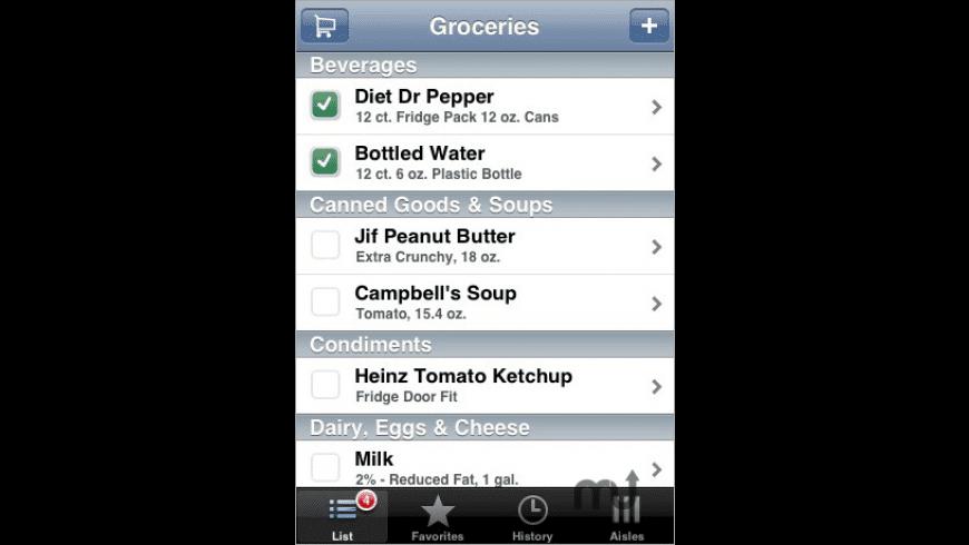 Grocery iQ for Mac - review, screenshots