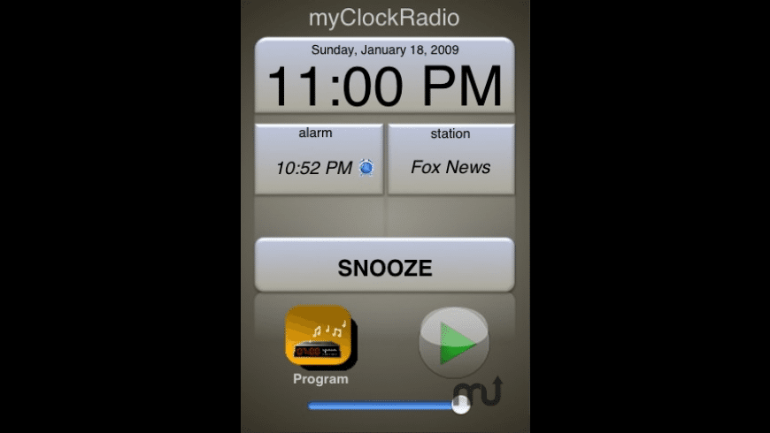 myClockRadio for Mac - review, screenshots