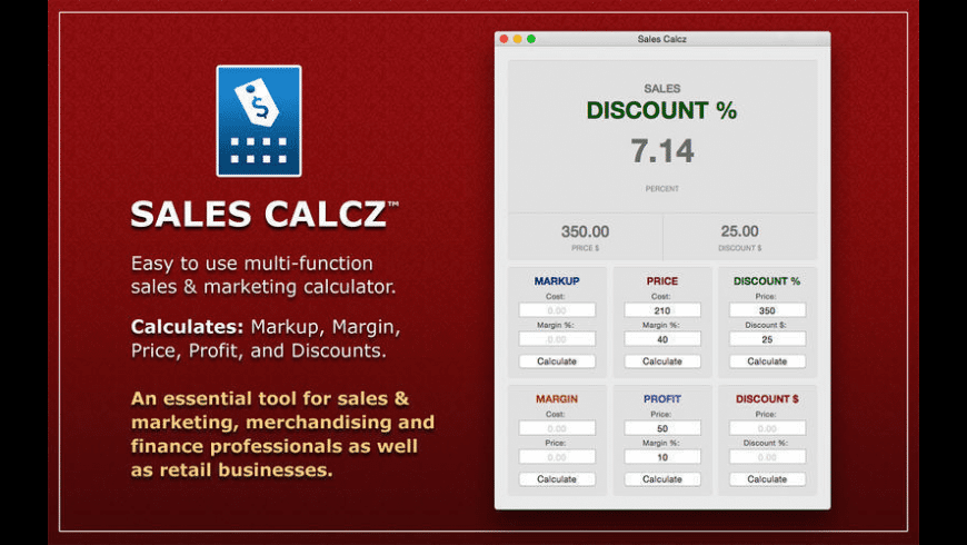 Sales Calcz for Mac - review, screenshots