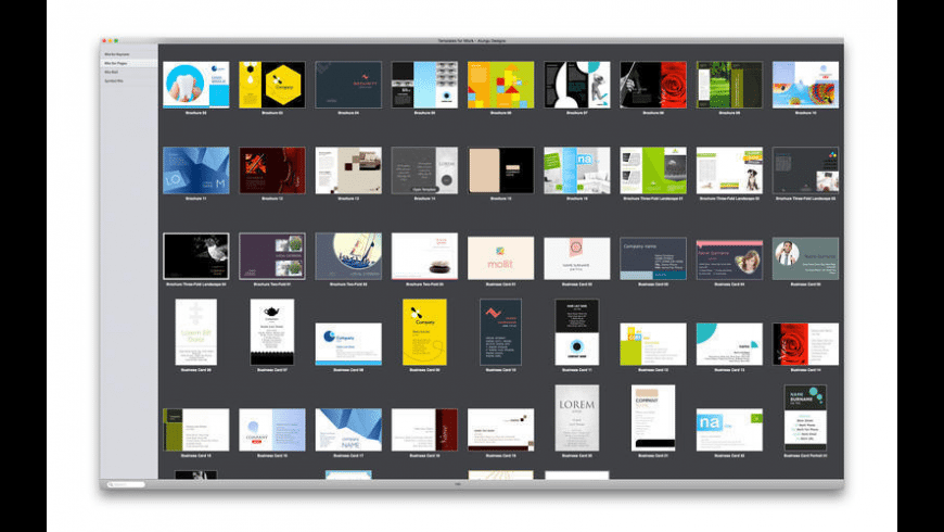 Templates for iWork for Mac - review, screenshots