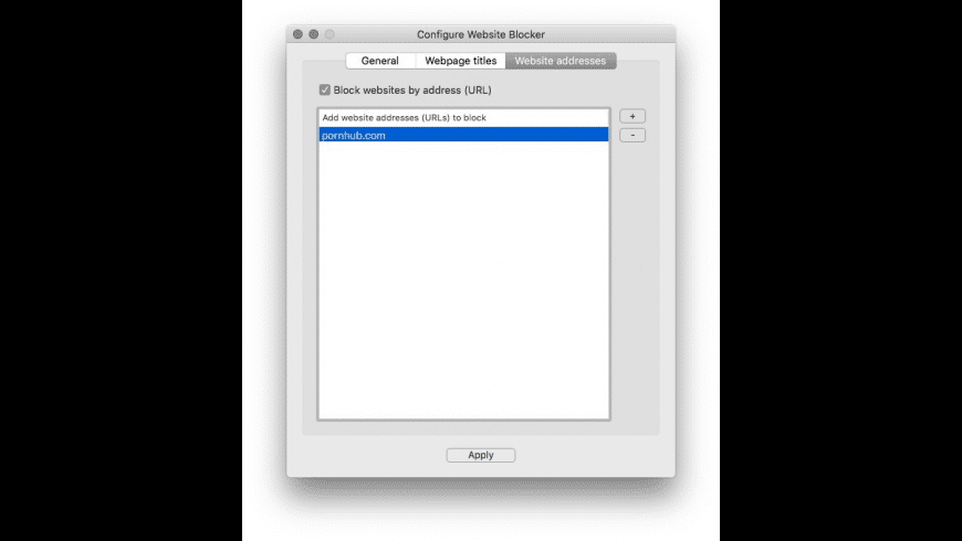Website Blocker for Mac - review, screenshots