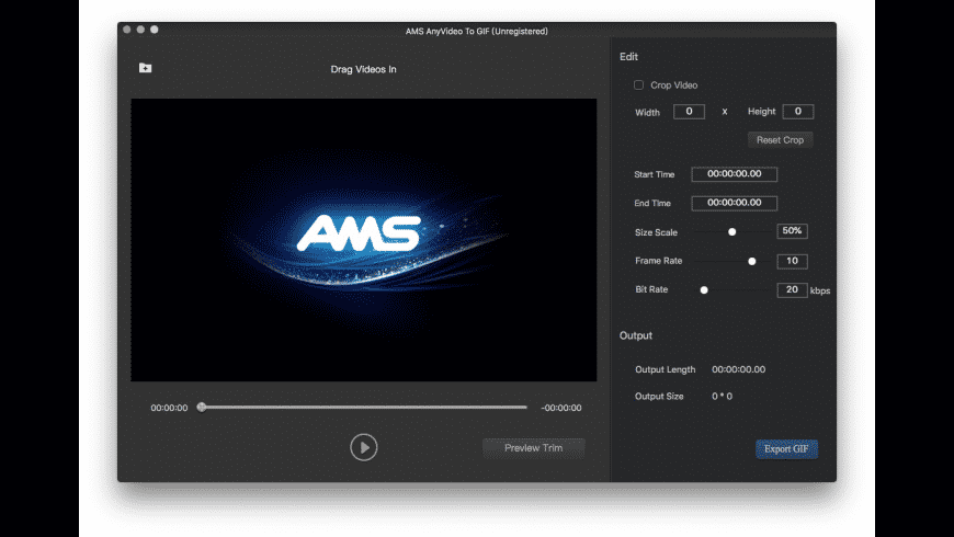 AMS Any Video To Gif for Mac - review, screenshots