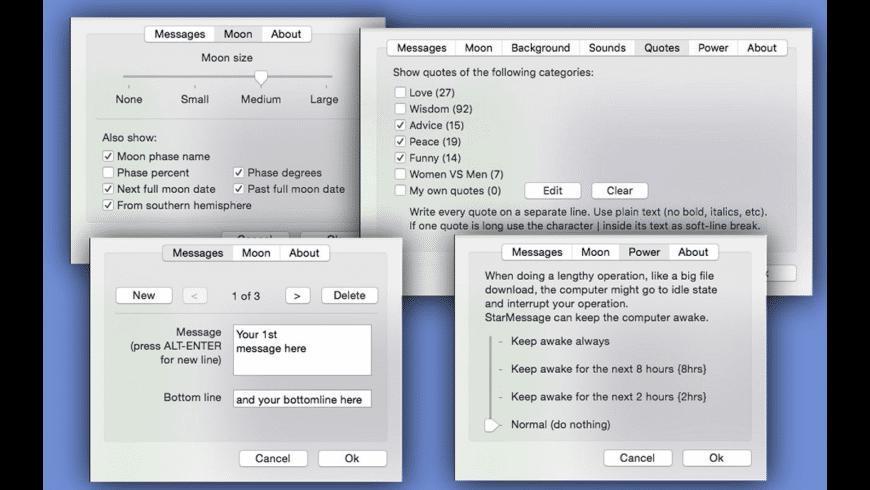 StarMessage Screen Saver for Mac - review, screenshots