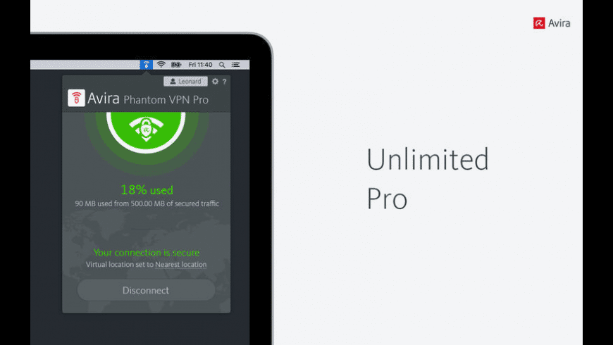 Avira Phantom VPN for Mac - review, screenshots
