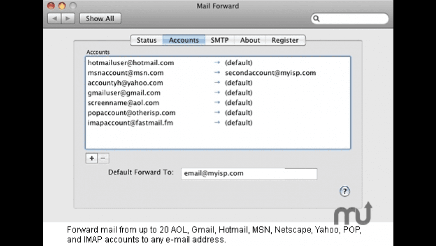 Mail Forward for Mac - review, screenshots
