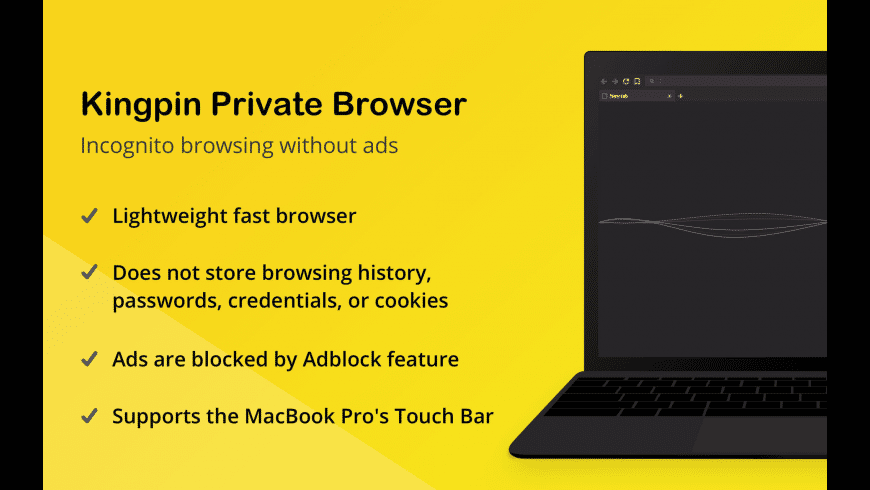 Kingpin Private Browser for Mac - review, screenshots